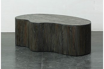 Dark Brown Irregular Shape Coffee Table
