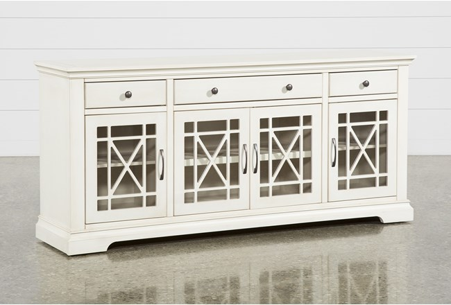 Belle Antique White 70 Inch TV Stand - 360