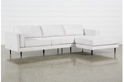 "Aquarius II Light Grey 2 Piece 120"" Sectional With Right Arm Facing Chaise"