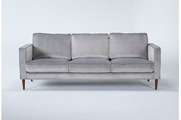 "Fairfax Steel Grey Velvet 90"" Sofa"