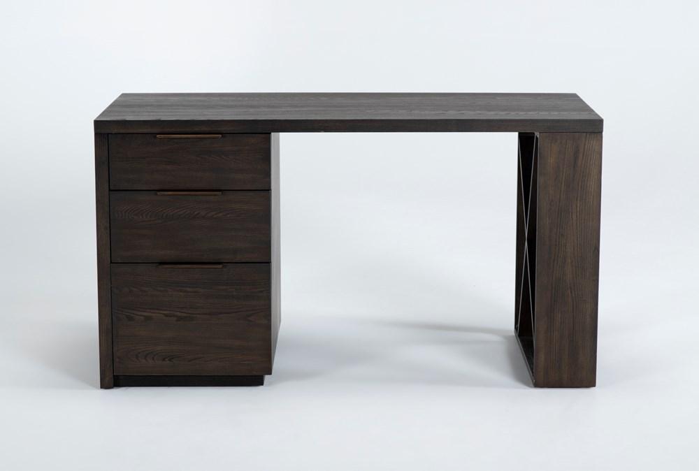"Pierce Black Pedestal 56"" Desk"