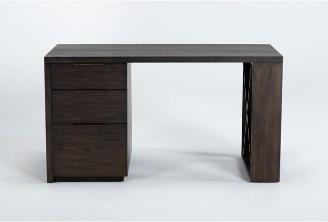 "Pierce Black Pedestal 56"" Desk - 360"