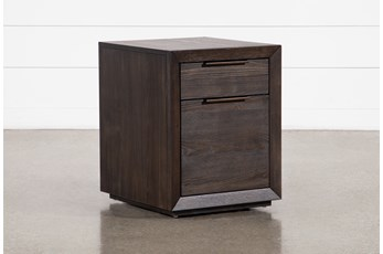 Pierce Black Mobile File Cabinet