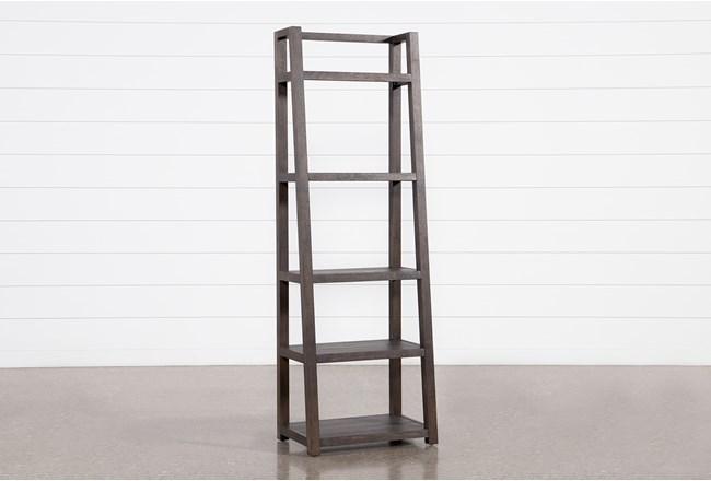 "Pierce Black Leaning 72"" Bookcase - 360"