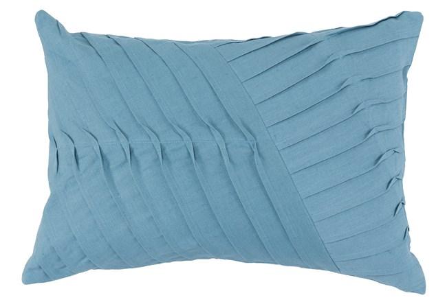 Accent Pillow-Blue Cotton Asymetrical Stripes 14X20 - 360