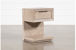 "Pierce Natural 1-Drawer 29"" Nightstand With USB and Power Outlets"
