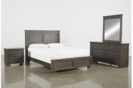 Marco Charcoal Queen 4 Piece Bedroom Set