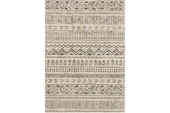 63X91 Rug-Tribal Lines Stone/Graphite
