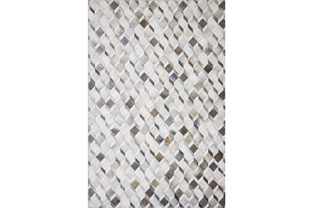 90X114 Rug-Faux Patchwork Hide Grey/Mocha