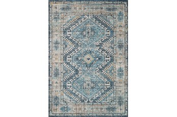 90X114 Rug-Carly Southwest Denim/Natural