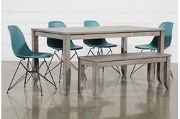 Matias Grey 6 Piece Dining Set With Alexa Reef Chairs