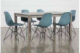 Matias Grey 7 Piece Dining Set With Alexa Reef Chairs