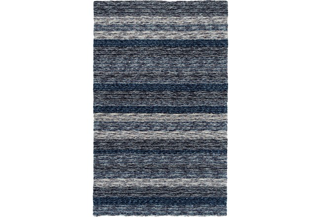 60X90 Rug-Plush Shag Striations Denim - 360