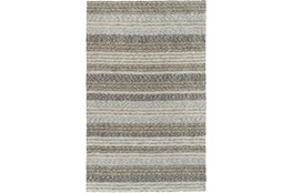 96X120 Rug-Plush Shag Striations Taupe