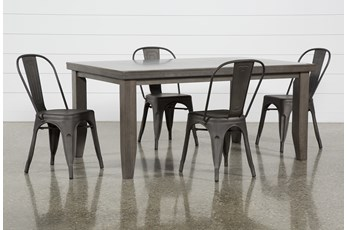 Ashford II 5 Piece Dining Set With Delta Bronze Chairs