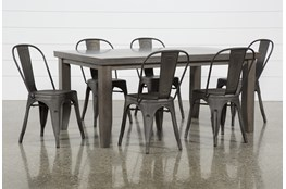 Ashford II 7 Piece Dining Set With Delta Bronze Chairs
