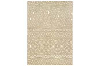 118X154 Rug-Zion Pattern Taupe Plush Pile