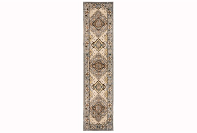 22X90 Rug-Global Traditional Taupe - 360