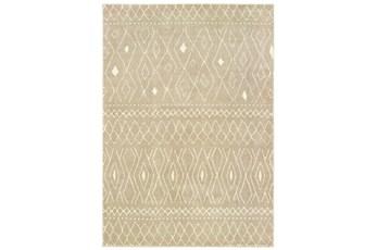 94X120 Rug-Zion Pattern Taupe Plush Pile