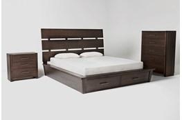 Teagan California King Storage 3 Piece Bedroom Set