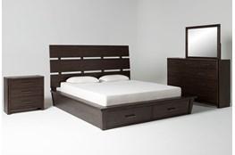 Teagan California King Storage 4 Piece Bedroom Set