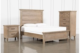 Meridian California King Panel 3 Piece Bedroom Set