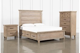 Meridian Eastern King Storage 3 Piece Bedroom Set