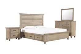 Meridian Eastern King Storage 4 Piece Bedroom Set