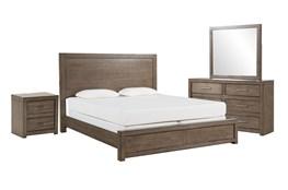 Riley Greystone Eastern King Panel 4 Piece Bedroom Set