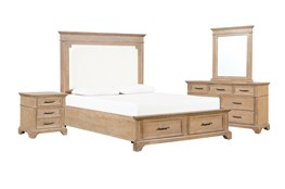 Whitney Eastern King Storage 4 Piece Bedroom Set