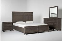 Augusta California King Storage 4 Piece Bedroom Set