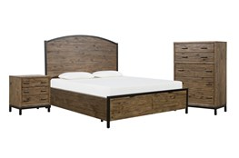 Foundry California King Storage 3 Piece Bedroom Set