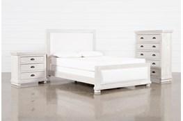 Sinclair Pebble California King Panel 3 Piece Bedroom Set