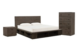 Dylan Eastern King Platform 3 Piece Bedroom Set
