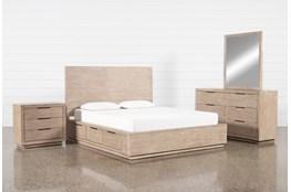 Pierce Natural Queen Storage 4 Piece Bedroom Set
