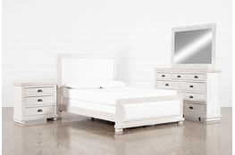 Sinclair Pebble Eastern King Panel 4 Piece Bedroom Set