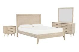 Allen Eastern King Panel 4 Piece Bedroom Set