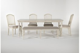 Kincaid 6 Piece Rectangle Dining Set With Backless Dining Bench