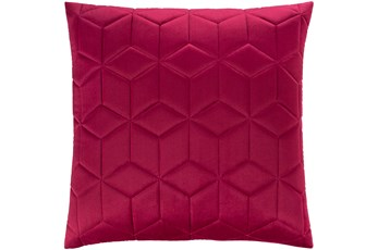 Accent Pillow-Diamond Quilt Berry 20X20
