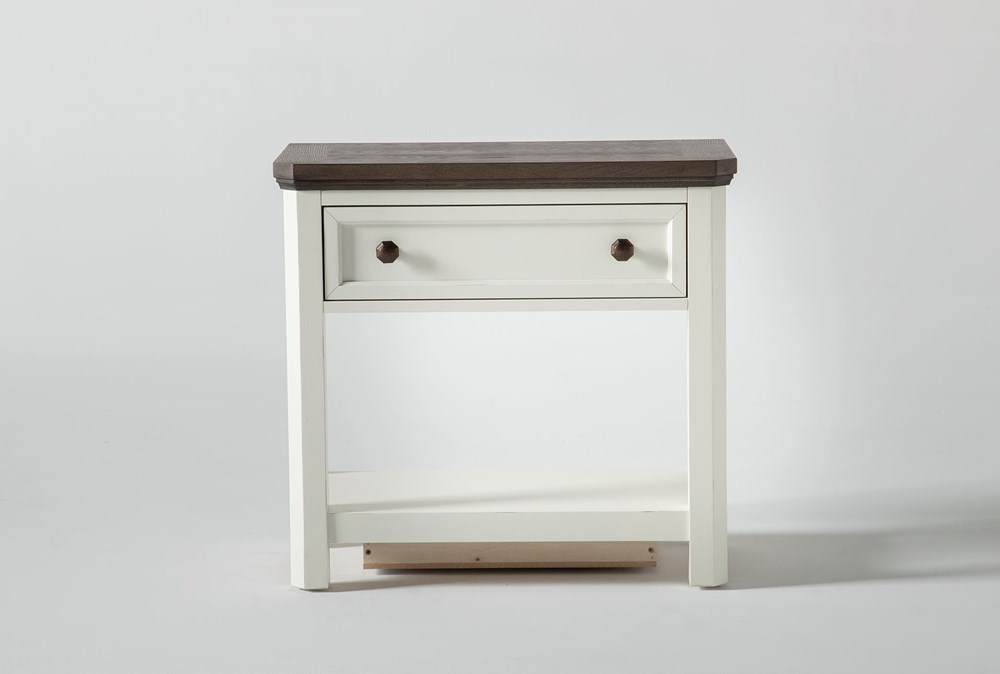 """Garland Open 28"""" Nightstand With USB"""