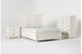 Presby White Queen Panel 3 Piece Bedroom Set