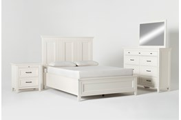 Presby White Queen Panel 4 Piece Bedroom Set