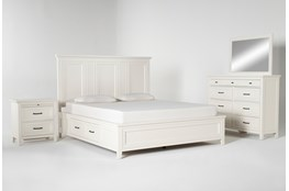 Presby White California King Storage 4 Piece Bedroom Set