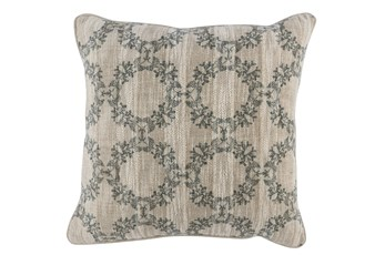 Accent Pillow-Bay Green Wreaths 22X22