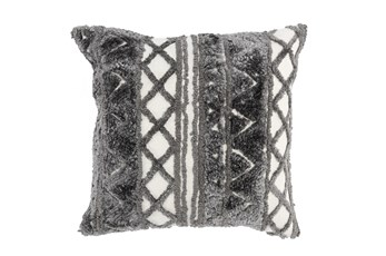 Accent Pillow-Grey Knit Pattern 20X20