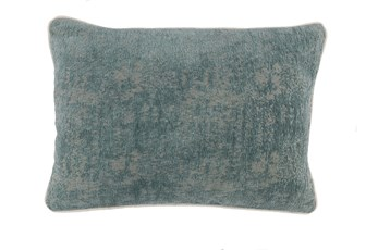 Accent Pillow-Bay Green Pattern Chenille 14X20