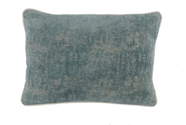 Accent Pillow-Bay Green Pattern Chenille 14X20 - 360