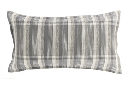 Accent Pillow-Grey Casual Plaid 14X26