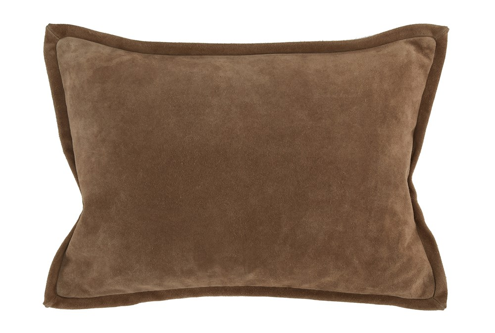 Accent Pillow-Chestnut Suede 14X20