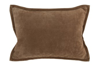 Accent Pillow-Chestnut Suede 14X20
